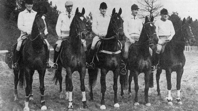 Rome 1960 Australian Equestrian Team members (from left) Laurie Morgan, John Kelly, Neale Lavis, Bill Roycroft and Brian Crago